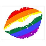 Rainbow Kiss Small Poster