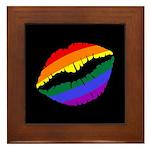Rainbow Kiss Framed Tile