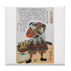 Warrior Asakura Saemonnokami Yoshikage Tile Coaste