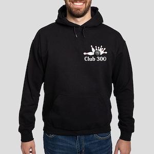 Club 300 Logo 2 Hoodie (dark) Design Front Pocket
