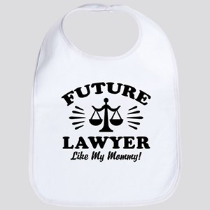 Future Lawyer Like My Mommy Cotton Baby Bib