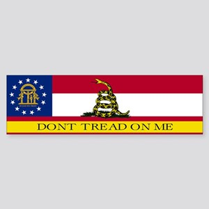 Dont Tread on Me Georgia Flag Sticker (Bumper)