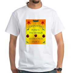 Composting White T-Shirt