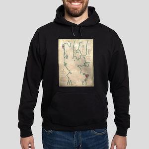 Vintage Map of Lake Champlain (1874) Sweatshirt