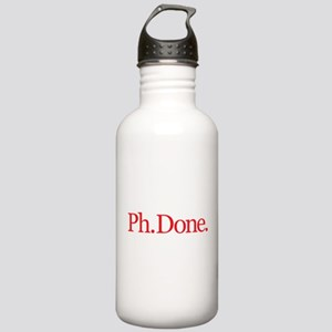 Ph.Done. Red Stainless Water Bottle 1.0L