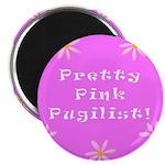 Pretty Pink Pugilist Breast Cancer Magnet