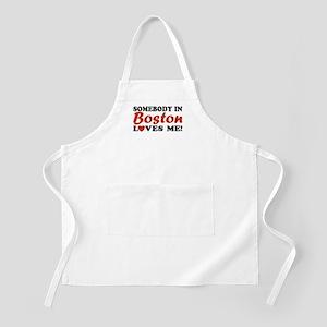 Somebody in Boston Loves Me! BBQ Apron