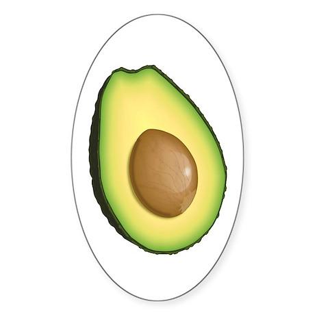 Avocado Sticker (Oval 50 pk)