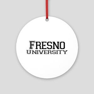 Fresno University Ornament (Round)