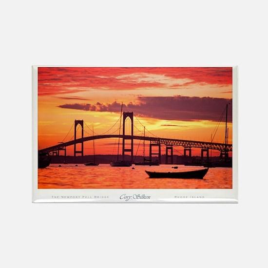 Newport Bridge Rectangle Magnet