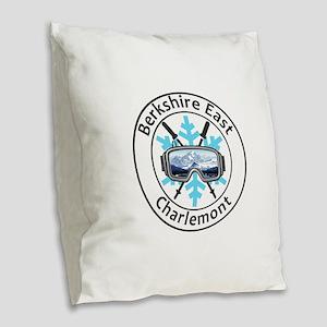Berkshire East Ski Resort - Burlap Throw Pillow