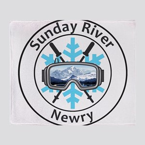 Sunday River - Newry - Maine Throw Blanket