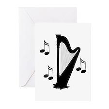 Musical Harp Greeting Cards (Pk of 10)