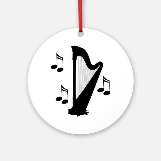 Musical Harp Ornament (Round)
