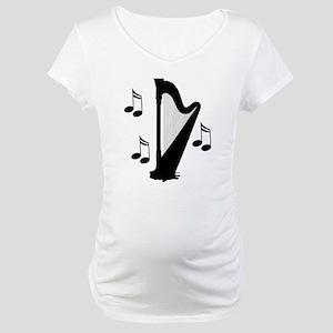 Musical Harp Maternity T-Shirt