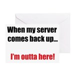 Server Down Greeting Card