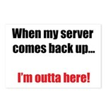 Server Down Postcards (Package of 8)