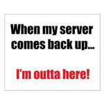 Server Down Small Poster