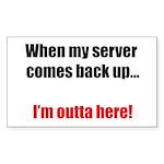 Server Down Sticker (Rectangle)