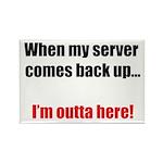 Server Down Rectangle Magnet