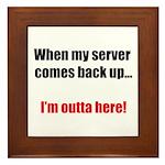 Server Down Framed Tile