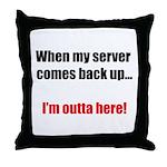 Server Down Throw Pillow