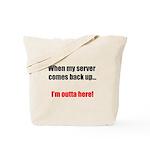 Server Down Tote Bag