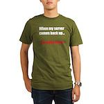 Server Down Organic Men's T-Shirt (dark)