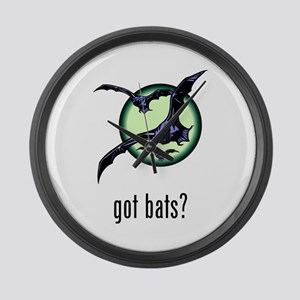 Bats Large Wall Clock