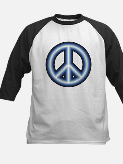 Blue Peace Symbol Kids Baseball Jersey