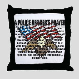 POLICE OFFICER'S PRAYER Throw Pillow