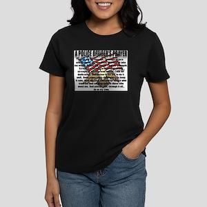 POLICE OFFICER'S PRAYER Women's Dark T-Shirt