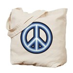 Blue Peace Symbol Tote Bag