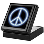 Blue Peace Symbol Keepsake Box