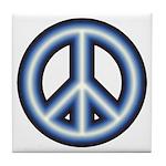 Blue Peace Symbol Tile Coaster