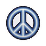 Blue Peace Symbol 3.5