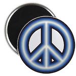Blue Peace Symbol Magnet