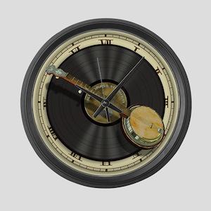 Banjo Music Large Wall Clock