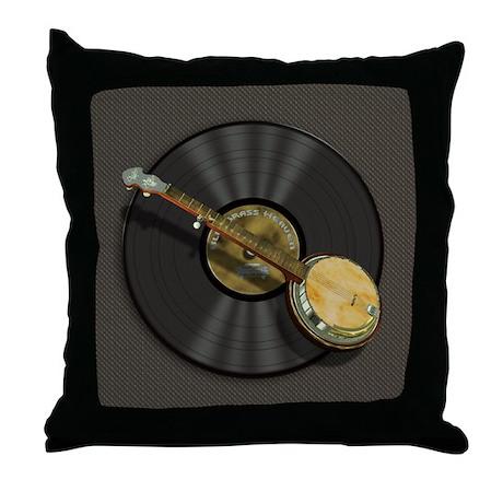 Banjo Music Throw Pillow