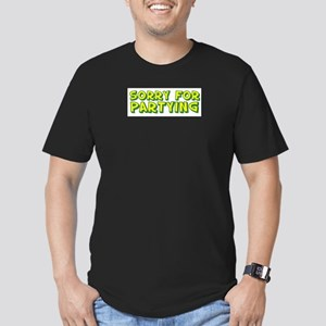 sorry for partying Men's Fitted T-Shirt (dark)
