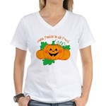 Cutest Punkin' In The Patch Women's V-Neck T-Shirt