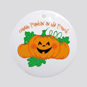 Cutest Punkin' In The Patch Ornament (Round)