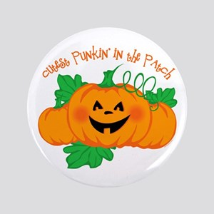 "Cutest Punkin' In The Patch 3.5"" Button"