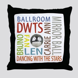 Dwts Fan Throw Pillow