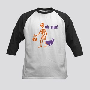 Oh, Snap Skeleton Kids Baseball Jersey