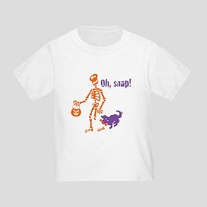 Oh, Snap Skeleton Toddler T-Shirt