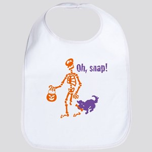 Oh, Snap Skeleton Bib
