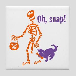 Oh, Snap Skeleton Tile Coaster