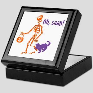 Oh, Snap Skeleton Keepsake Box