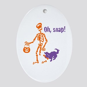 Oh, Snap Skeleton Ornament (Oval)